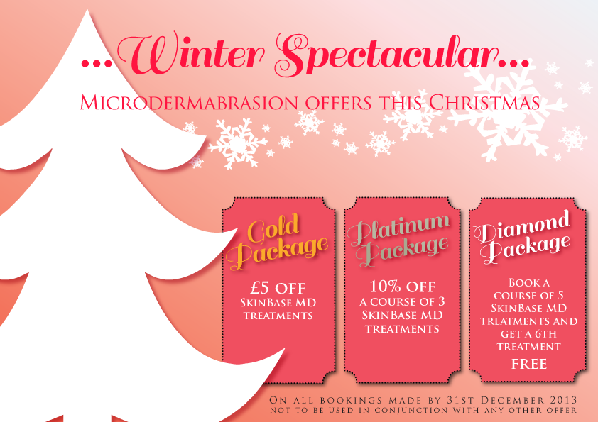 Microdermabrasion offers until 31st december 2013 for Beauty salon xmas offers
